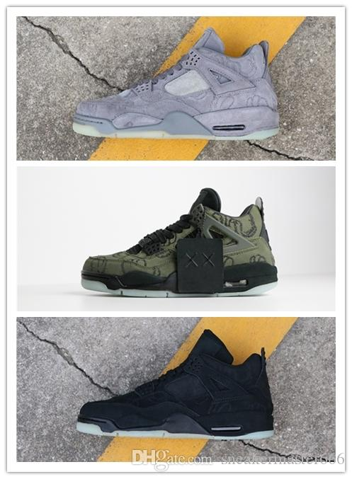 4a15d2e274d 2018 With Box KAWS X 4 XX Kaws Cool Grey White Black Glow Top Quality  Limited Edition Trainers 4s Basketball Shoes Mens Shoes Sneakers From  Sneakermaster666 ...