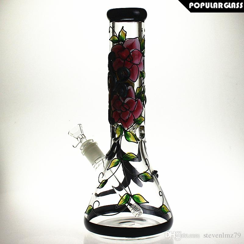 Saml Glass 7mm thick Beaker water pipe bong bongs hookah percolator Glass water Bongs Percolator Smoking Pipes PG5164