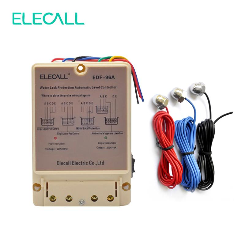 2019 edf 96a water automatic level controller 10a 220v electronic water  liquid level detection sensor water pump controller from zhongguofuping,