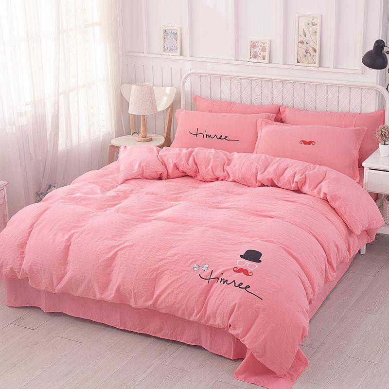 Biancheria Da Letto Outlet.Acquista Biancheria Da Letto Home Textiles Outlet Pink Cute Rabbit