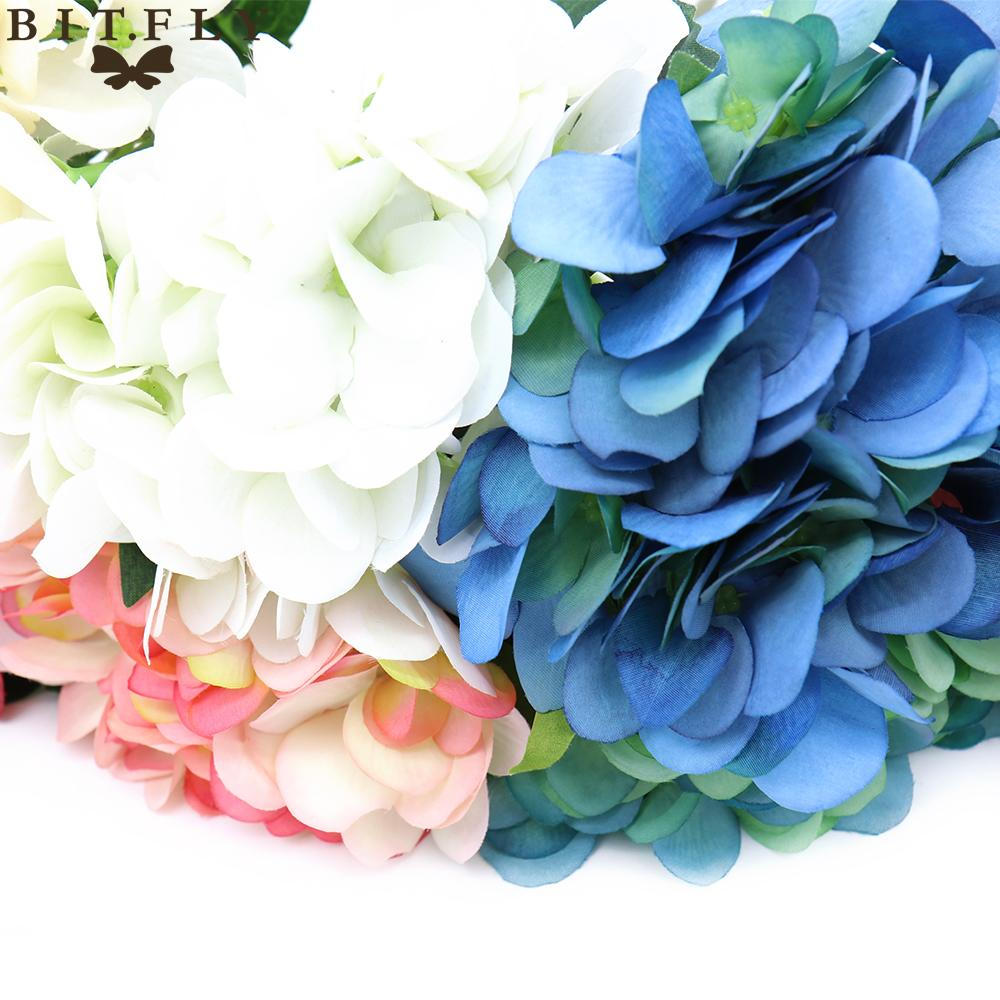 Decorations Artificial Dried Flowers Bitfly Artificial Hydrangea