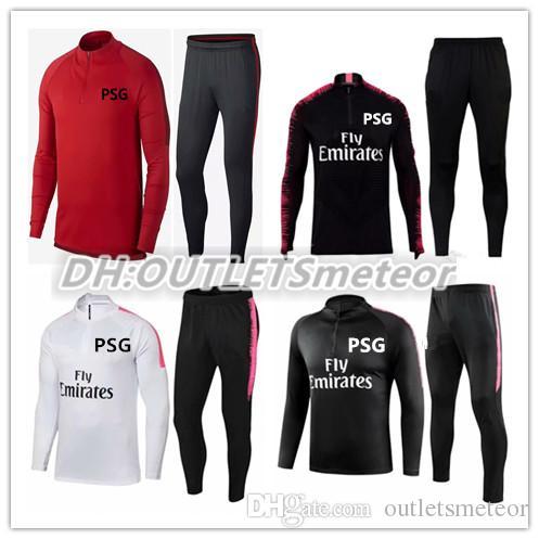 cdf64e016 2018 19 Survetement Maillot Psg Tracksuit Training Suit Mbappe ...
