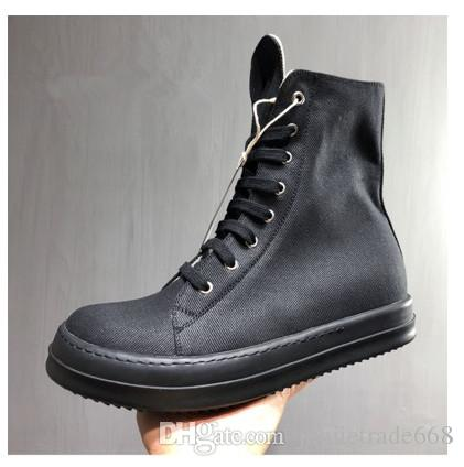 Male high shoes heavy-bottomed wax surface breathable canvas casual shoes female couple sports and leisure boots