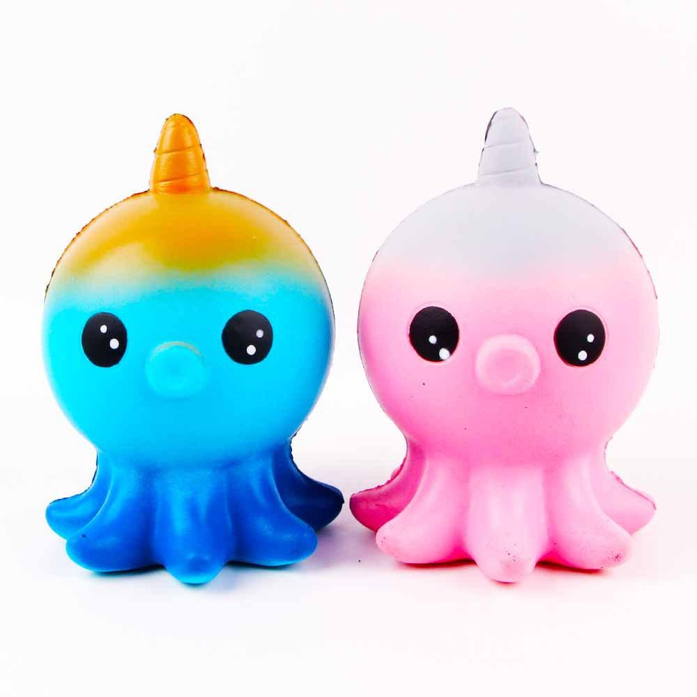 12*8cm Stress Reliever Toys, Sacow Cute Unicorn Octopus Toys Scented ...