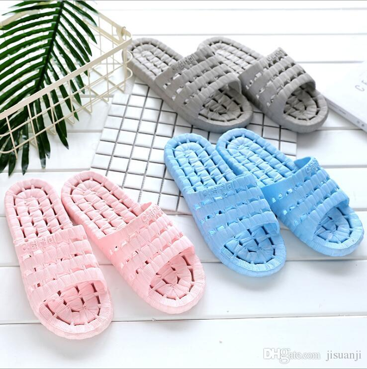 Wholesale Unisex Slippers Non-slip Soft PVC Hotel Shower Room Men's Women's Slippers Multi-color Beach Sandals