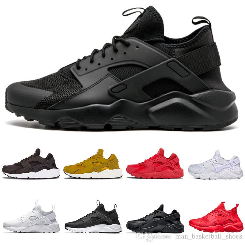 2018 Huarache 1 IV Mens Women Running Shoes Classic Triple White Black Red  Grey Huaraches Outdoor Runner Sport Trainers Sneakers Eur 36 45 Running  Clothes ... f564c853f