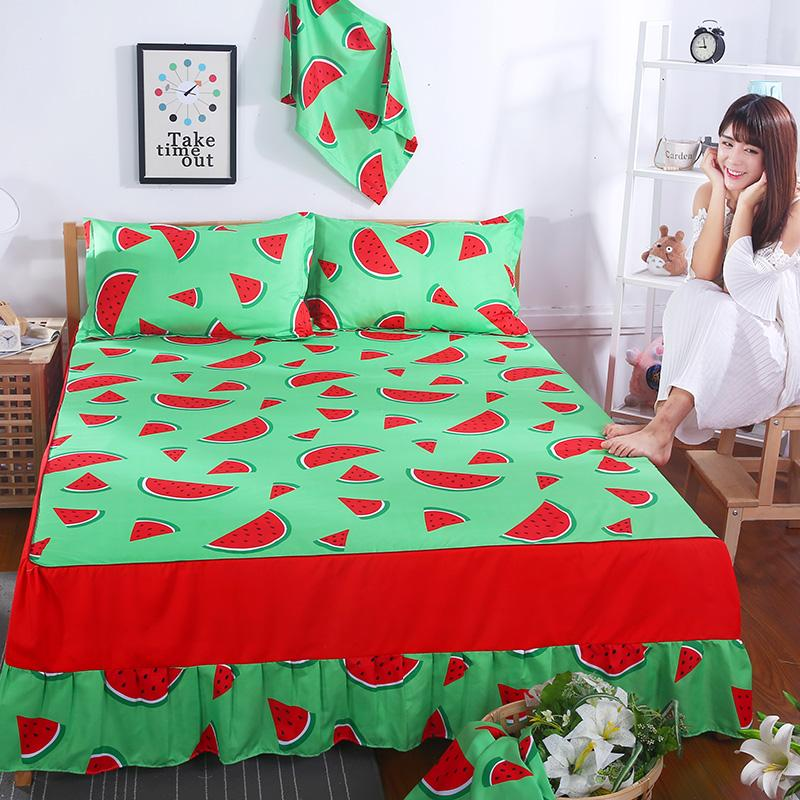 Polyester Bed Skirt Watermelon Bed Sheets Room Bedding Cartoon Red Color  Bedspreads Pettiskirt 1.5m/1.8m/2m Bed Skirt Bed Sheet Skirt Bed Skirt Red  Online ...