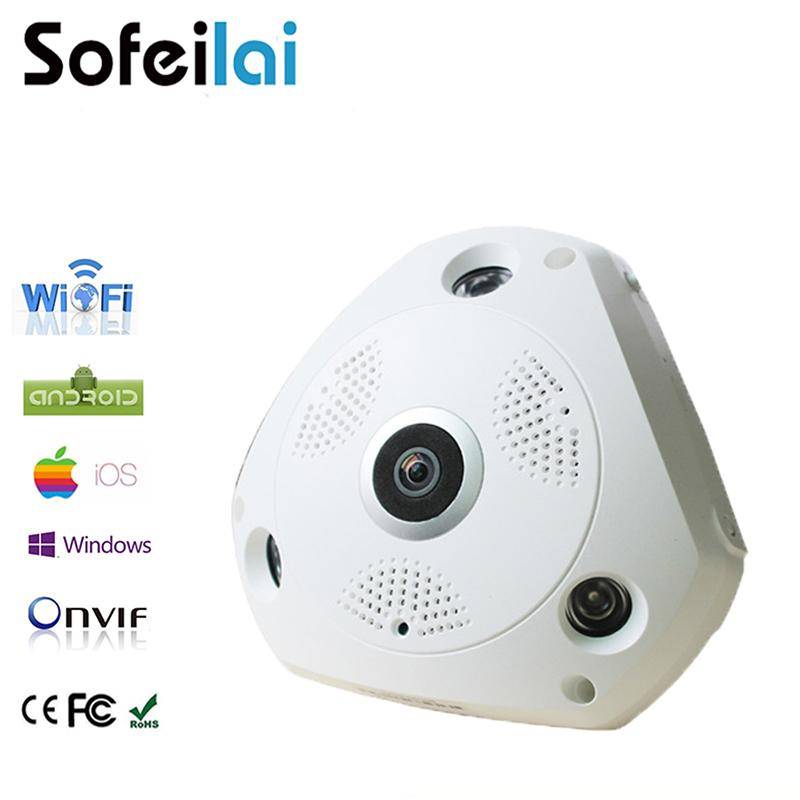 Sofeilai VIEW 360 Wireless IP Camera 1080P Wifi Smart Mini Home Motion  Detect Onvif CCTV Security P2P Camera 3D VR Micro Sd card