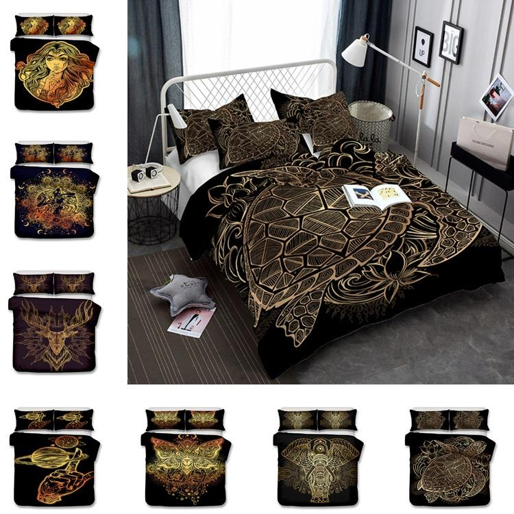 Hot 10 Styles Us Au Size Luxury Bedding Set Duvet World Map Printed