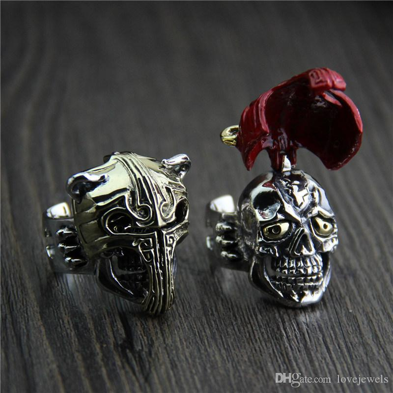 b80d50627 2019 925 Sterling Silver Ring Original Design Thailand Unique Personality  Exaggerated Domineering Fake Face Knight Ring Mens Hip Hop Jewelry From  Lovejewels ...