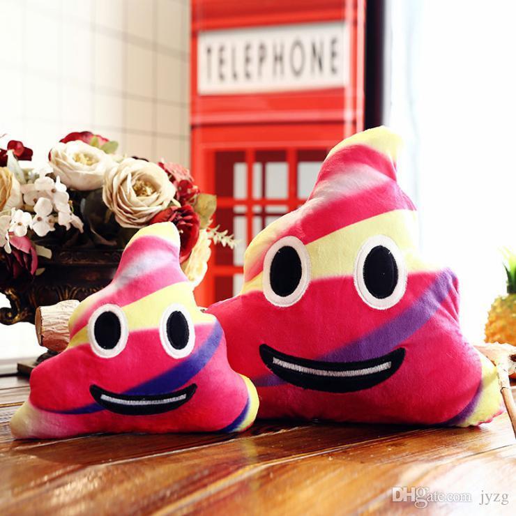 Venta al por mayor 35cm Color Poop Design Mini Cute Poo Emoji Emoticon Cushion Poop Pillow Doll Toy Throw Pillow Soft Stuffed Soft Doll
