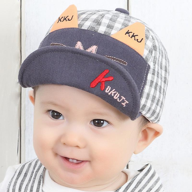 Baby Hat Kukuji Spring And Autumn Children s Cap Boy Personality Thin  Section 6 12 Months Baby Soft Hat Army Cap Cheap Hats From Jianyue16 deb62c4fe70