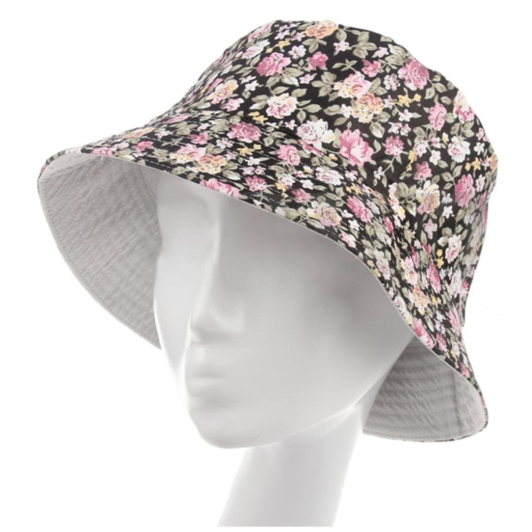 Women Men Bucket Hat Boonie Hat Hunting Fishing Outdoor Cap Floral Summer  Sun Hats Black Beanie Hats Winter Hats From Huteng ac693406d6