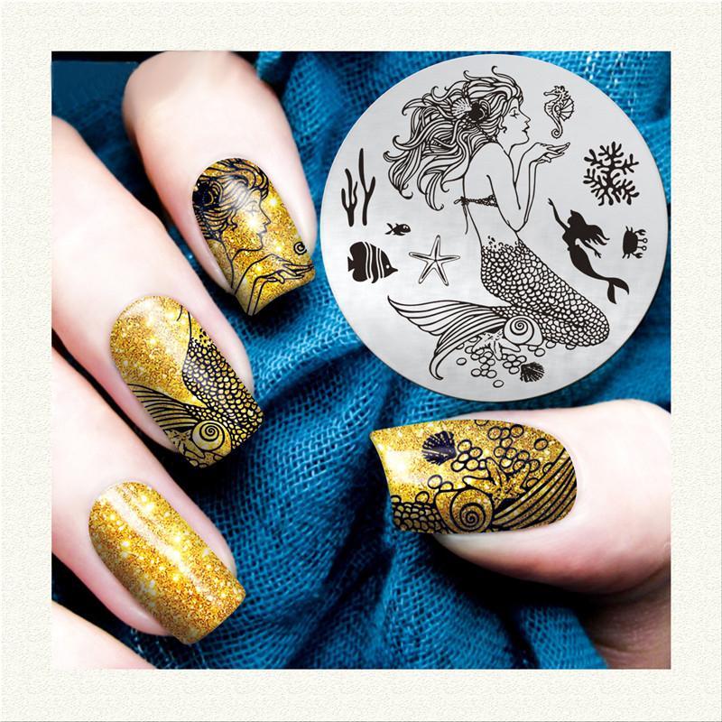 1 Sheet Women Nail Art Sticker Decal Cute Flower Pattern Diy 3d Nail