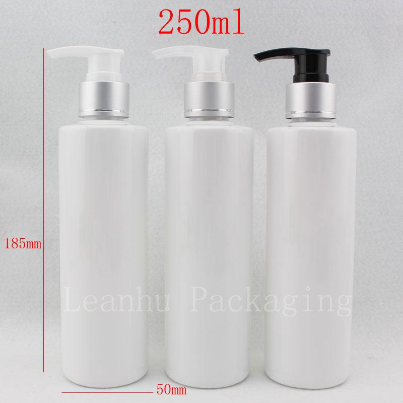 Charmant 250ml X 20 White Empty Shampoo Container Bottle With Pump Shower Gel  Plastic Bottles With Dispenser Cosmetic Packaging Lotion Czech Perfume  Bottles ...
