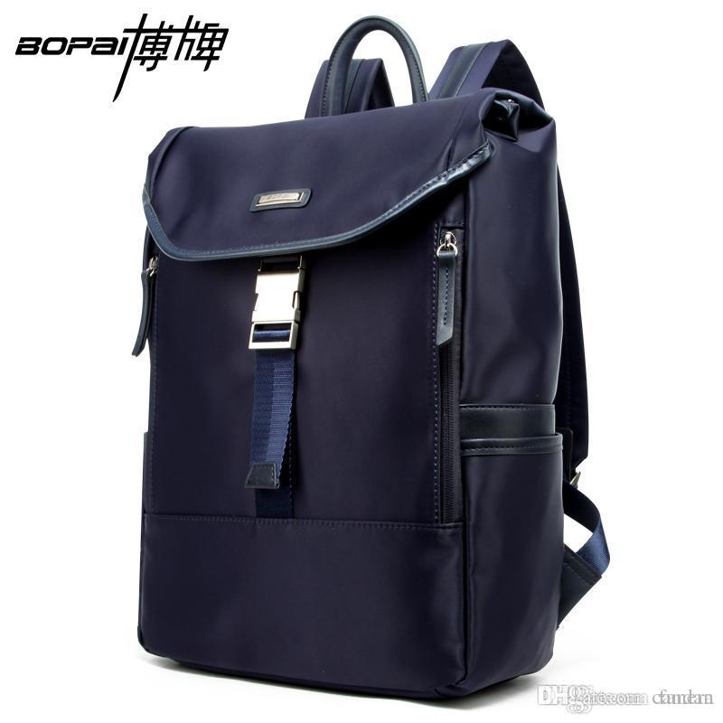 67fb5c16d6 Wholesale BOPAI Korean School Bags Waterproof 14 Inch Laptop Backpack  Weekend Travel Men Back Packs Nylon Blue Color Daypacks For Travel Osprey  Backpack ...
