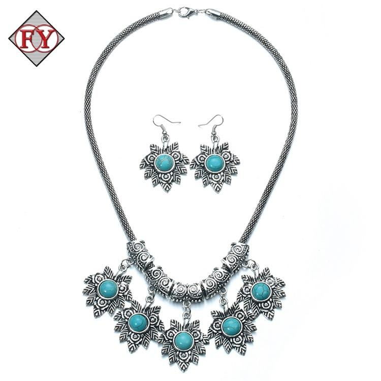 Acheter Argent 925 Vintage Tibétain Argent Turquoise Collier Bracelet  Boucles D\u0027oreilles Ensembles De Bijoux Pour Femmes Cadeau Pour Les Femmes  De $3.3 Du