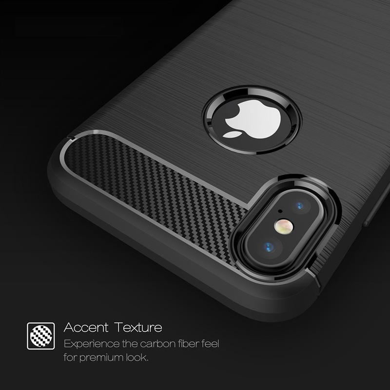 Rugged Armor Case for iPhone 7 Plus iPhone X Samsung Galaxy S9 S10 Plus Anti Shock Absorption Carbon Fiber