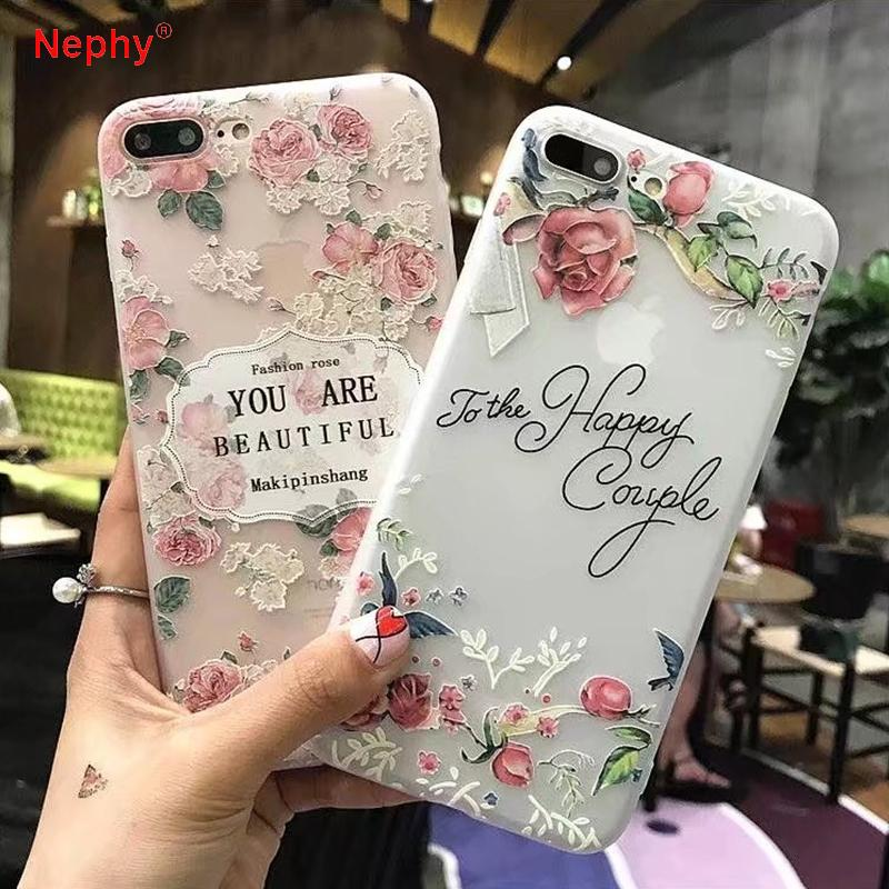 for iphone 6 6s plus iphone 7 8 7plus 8plus x xs max xr 5 5s beautyfor iphone 6 6s plus iphone 7 8 7plus 8plus x xs max xr 5 5s beauty girly flower soft silicone back cover cell phone cases wholesale custom cell phone cases