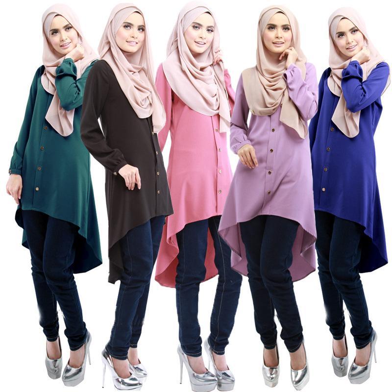 7e9d11dc7b 2019 Muslim Women Long Sleeve Hijab Dress Maxi Abaya Jalabiya Islamic Women  Dress Clothing Robe Kaftan Moroccan Fashion Turkey Dubai From Braces, ...