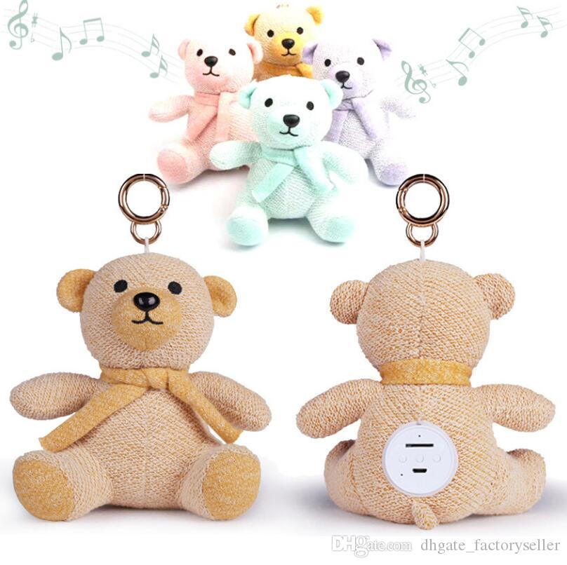 Kids Christmas Xmas Gift Cartoon Cute Bear Dolls Bluetooth Speaker Outdoor Wireless Subwoofers For Cell Phone LX2303
