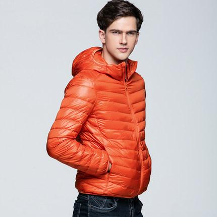 2016 Yeni Ultralight Aşağı Ceket Erkekler Kış Coat Ile 90 Ördek Aşağı Ceketler Erkekler Hood Açık Havada Kış Parka Ile