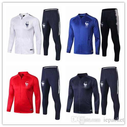 factory authentic 00810 7add1 2018 2019 French 2star redness training suit maillot de foot French  national football training wear long sleeved tracksuit football jacket