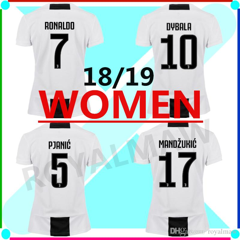 cheap for discount 152b3 4ed1f S-XL JUVENTUS WOMEN JERSEY HOME 18-19 FOOTBALL SHIRT 2019 RONALDO DYBALA  MATUIDI 2019 JUVE FEMALE ALEX SANDRO MANDZUKIC BENATIA GIRL T-SHIRT