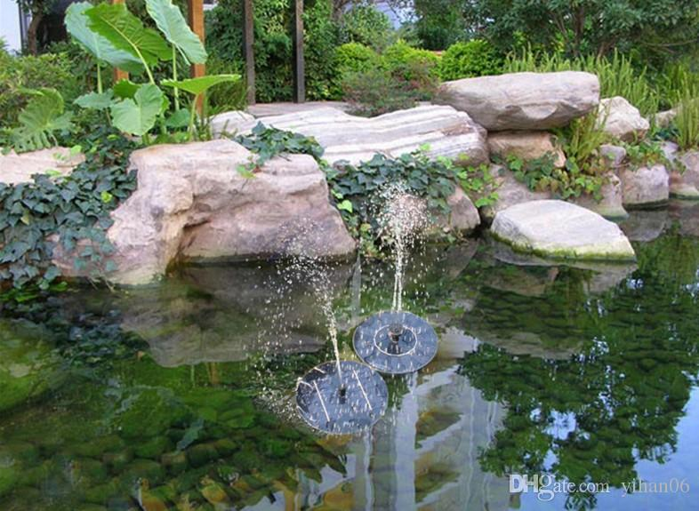Solar Water Pump Floating Waterpomp Panel Kit Fountain Pool Pump Kit Lotus Leaf Floating Pond Watering Submersible Garden Water Pump