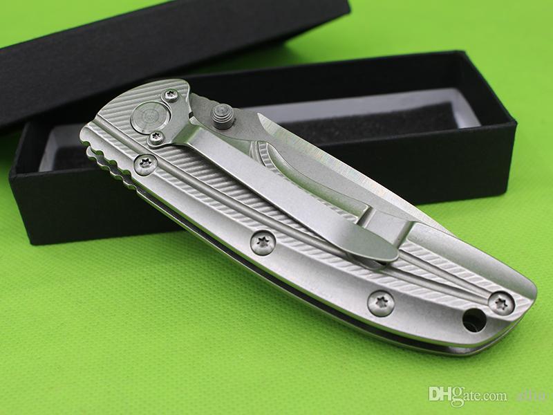 Allvin Manufacture Flipper Pieghevole coltello 9CR18 satinato Tanto Blade con manico in acciaio cuscinetti a sfere cuscinetti EDC