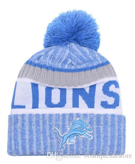 dba58d2d094 Top Quality Brand Lions Street Hip Hop Beanies with Funny Pom ...