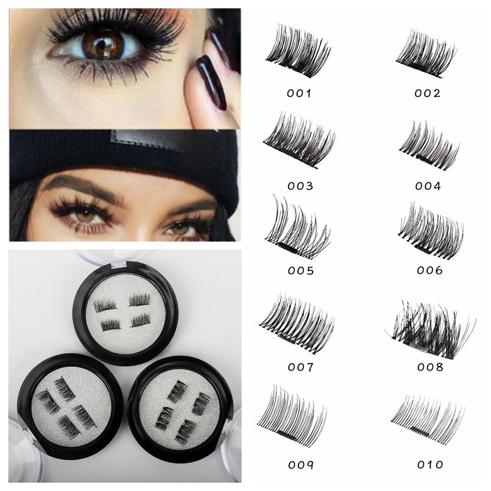 41de942fd46 10 Styles Magnetic False Eye Lashes 3D Mink Reusable Magnet Eyelashes  Extension 3d Eyelash Extensions Magnetic Eyelashes Makeup AAA413 Kiss  Eyelashes Kiss ...