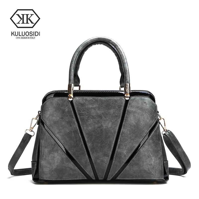 New Patchwork Leather Female Handbags High Quality Ladies Hand Bags ... 58f381bf539e9