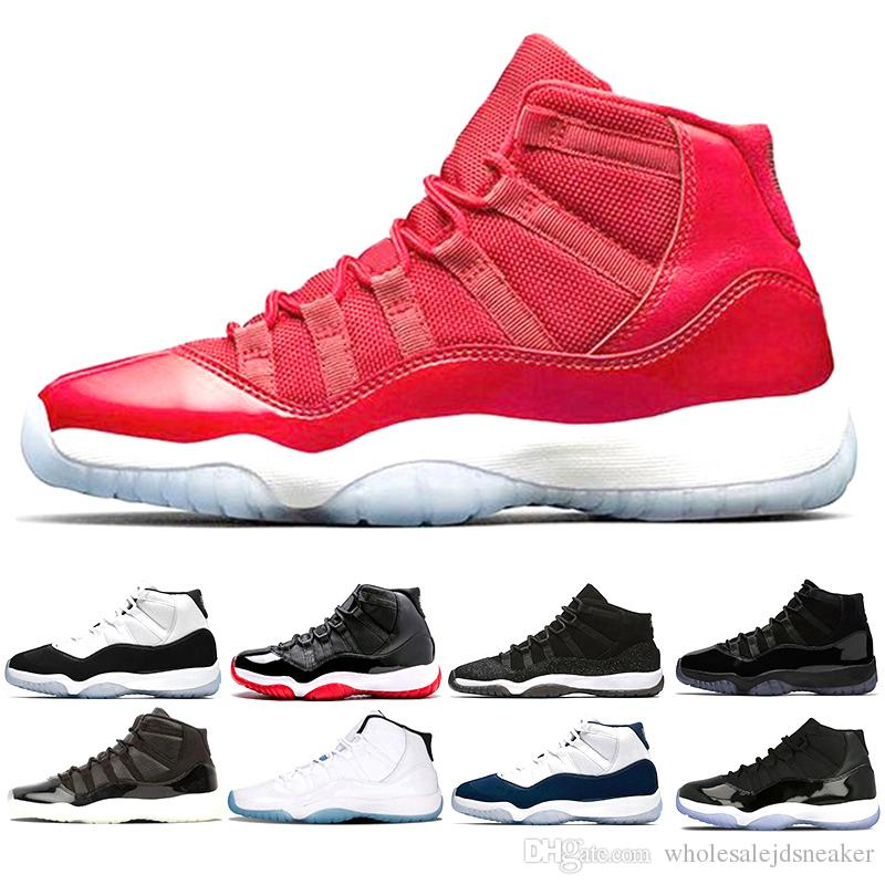 11 11s Gym Red Cap And Gown Prom Night Legend Blue Basketball Shoes Bred  Prm Heiress Barons Concord 45 Mens Sports Sneakers Cp3 Shoes Kids Sneakers  From ... 94c56b7f0030