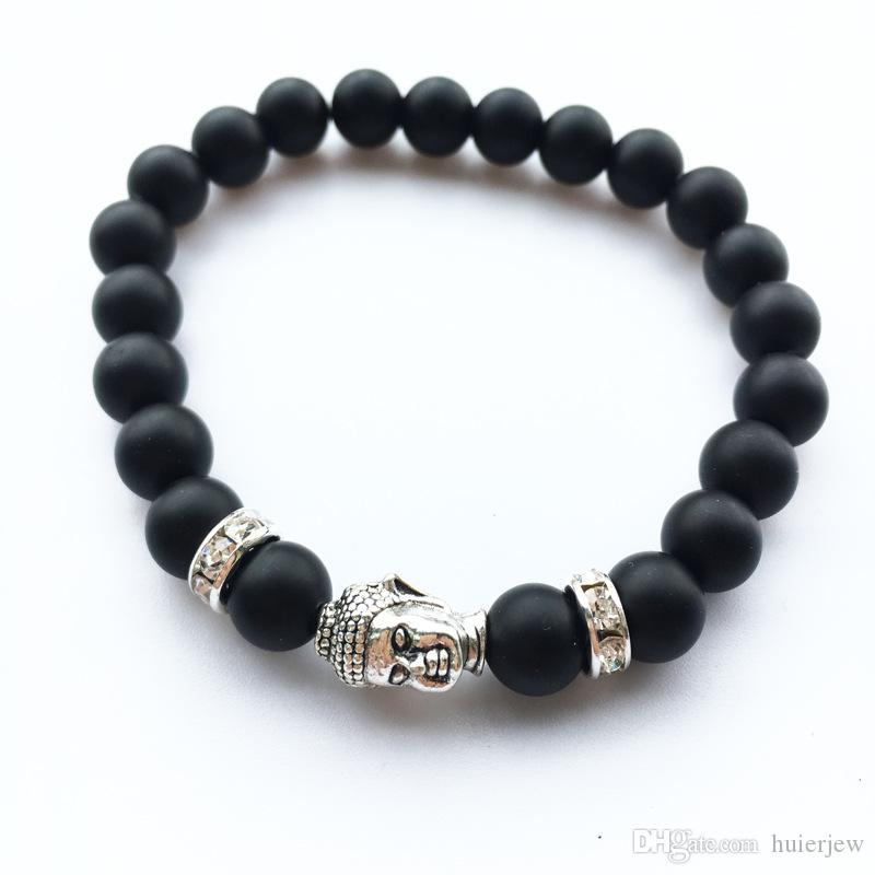 Mens Bracelets Luxury Jewelry Women matt stone bead bracelet elephant leopard head lion head owl turtle Lava Charm Bracelets