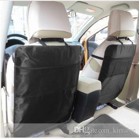 Automobile Car Seat Back Protector Cover Organizer Storage Bags Net Mesh Pocket Kid Kick Mat Oxford Fabric 70x50cm Covers Sets