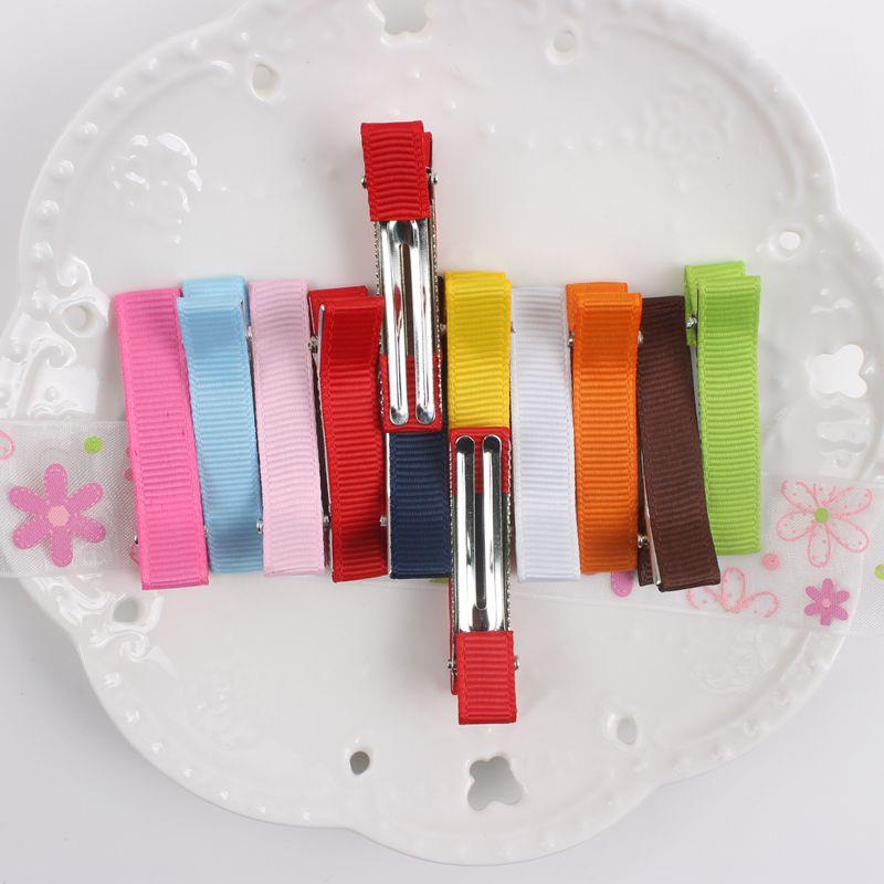 2017 NOVA varejo Rainbow cor 48mm + 10mm DIY grampos de cabelo Acessórios Para o cabelo para meninas E CRIANÇAS 10 cores presilhas BM01