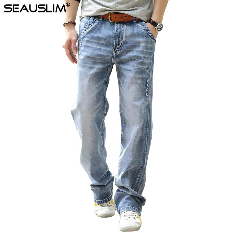 cff2e108 2019 SEAUSLIM Skinny Jeans Men Denim Pants Jeans Male Casual Straight Jean  Trousers Stretch Loose Plus Size Pantalon Hombre LQ FN 02 From Bailanh, ...