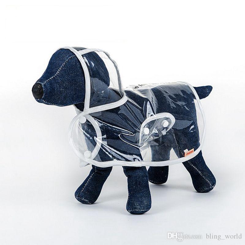 Brand Dog Raincoat Transparent Small Dogs Rain Coat Waterproof Puppy Raincoats Rainwear Summer Pet Clothes Dog Supplies 3 Designs YW1003