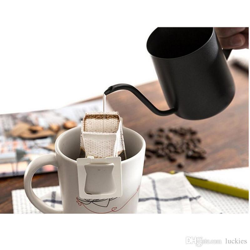 Lautechco 350ml Stainless Steel Gooseneck Pour Over Drip Coffee Maker Tea Coffee Cup Pot Tea Tools Kitchen Tools Matt 023
