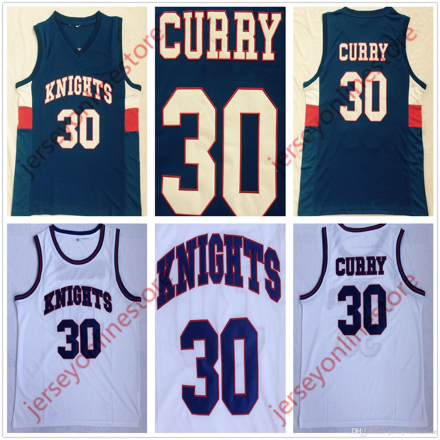 2019 Cheap Men Charlotte Christian School Knights 30 Stephen Curry