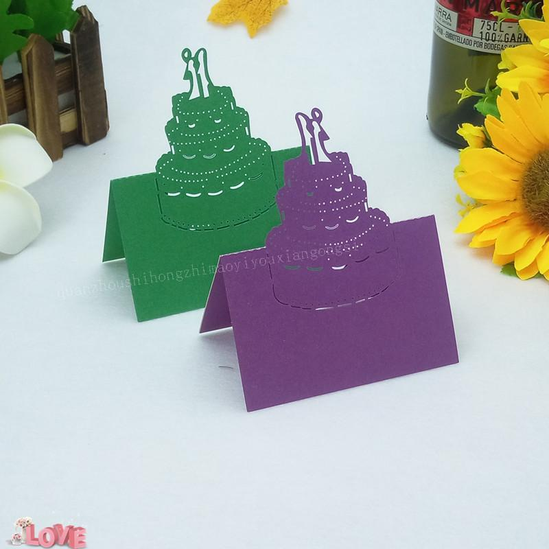 Laser Cut Cake Romantic Wedding Invitation Cards Guest Name Place Card Birthday Holiday Party Decoration 5ZZ28 B Day Greeting Baby