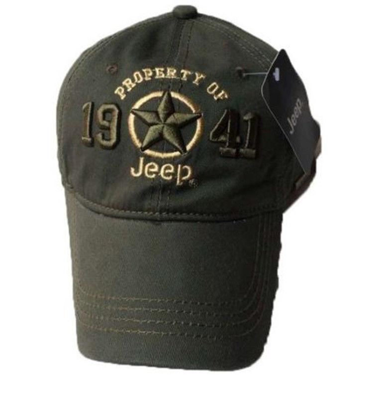 6c2d763a704 New 1941 Army Green Jeep Hat Cap Women Men Unisex Baseball Golf Ball Sport  Cap Top Quality JEEP Embroidery Hat Baseball Hat Hat Store From Ever1314