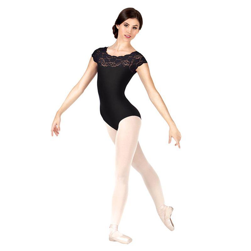 fbee46437 2019 2017NEW Women Lace Basic Ballet Sleeveless Leotard Scoop Neck ...