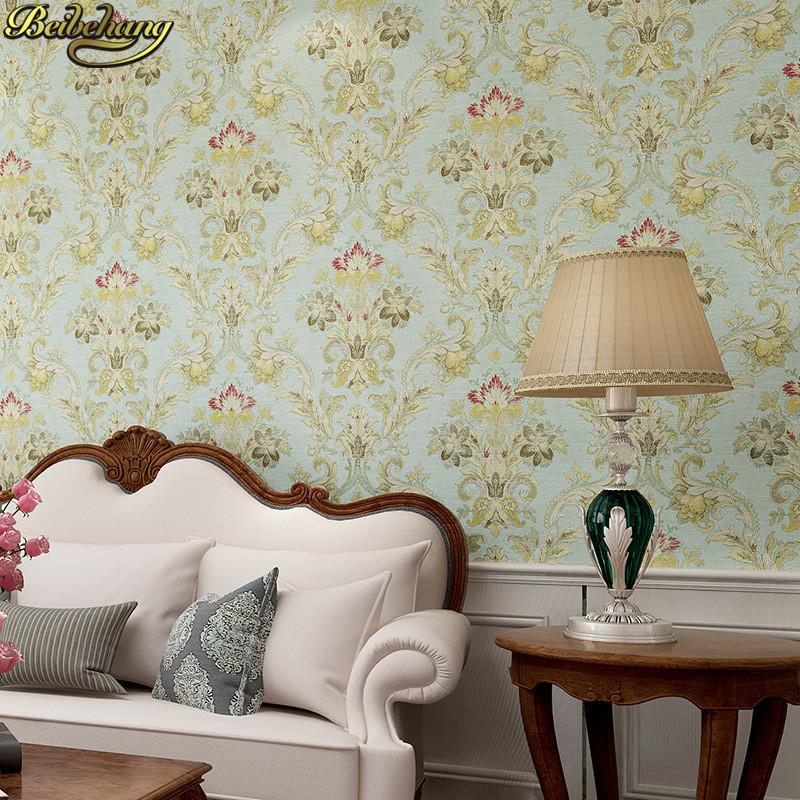 Beibehang American Retro Wallpaper Roll Desktop Living Room D Wall Paper Home Decor Tv Background Green Wallpaper For Walls  D Free Desktops Wallpaper