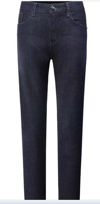 Jeans Menswear 2018 neue Mode britische Freizeit und bequeme Stickerei gerade Rohr Taille.