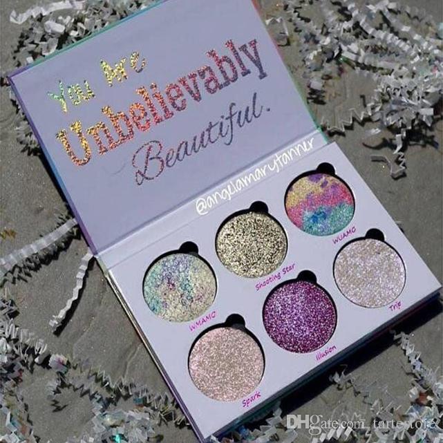 Aşk Luxe Güzellik Fantezi Göz Farı Paleti 6 Renkler Makyaj İnanılmaz Güzel Fosforlu Üzüm Toz Paleti Ücretsiz Kargo