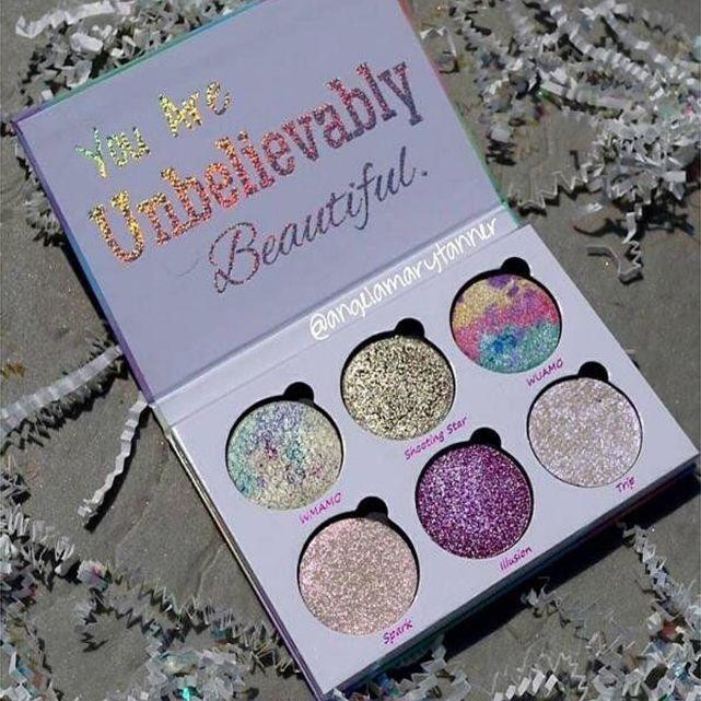 Maquillaje del brillo de la gama de colores es usted es increíblemente hermoso marcadores Polvo Paleta envío libre de DHL