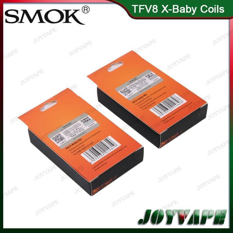 Authentic SMOK TFV8 X-Baby Bobine di ricambio M2 Q2 X4 T6 Sostituzione bobine atomizzatore Smoktech TFV8 X-Baby Tank 100% originale