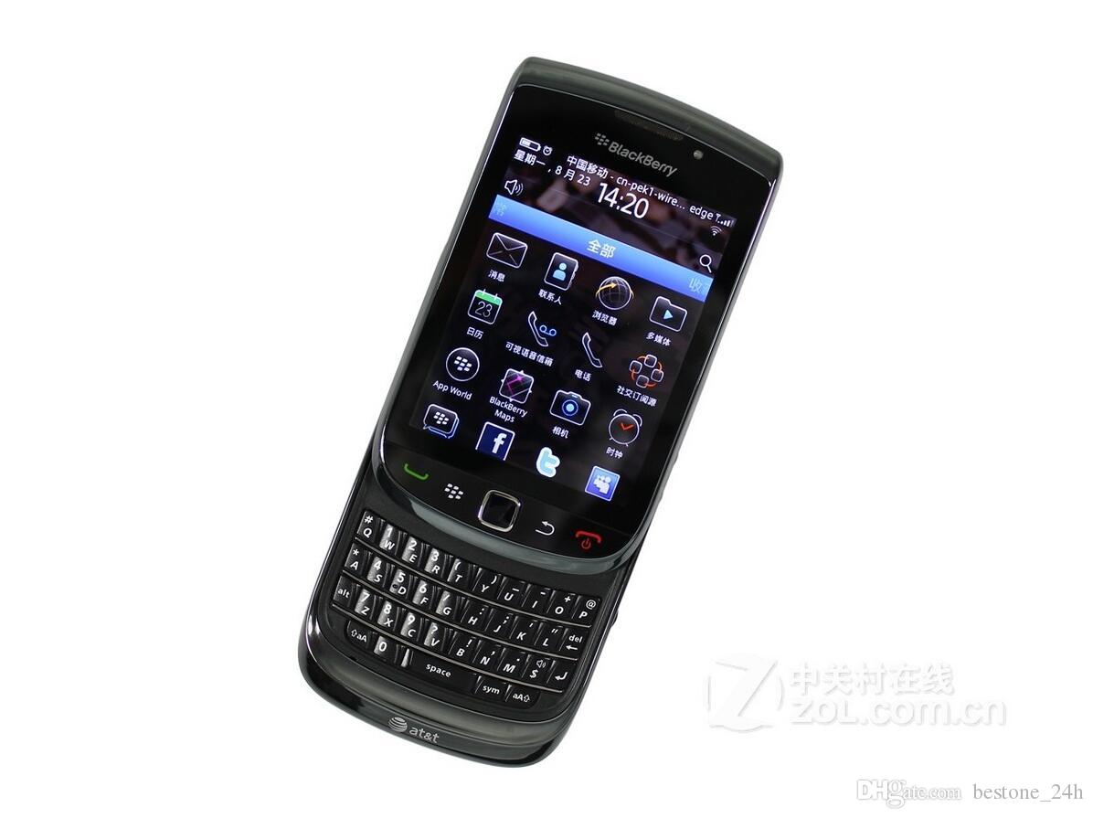 Original BlackBerry 9800 Mobile Phone OS Smartphone Unlocked 3G Wifi Bluetooth GPS Cellphone QWERTY keyboard refurbished phone